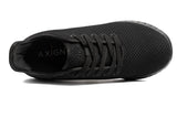 Axign River Lightweight Casual Orthotic Shoe - Full Black