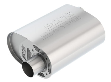 Borla CrateMuffler Ford Coyote 2.5 inch Offset/Offset 12in x 6in x 10.34in S-Type Oval Muffler