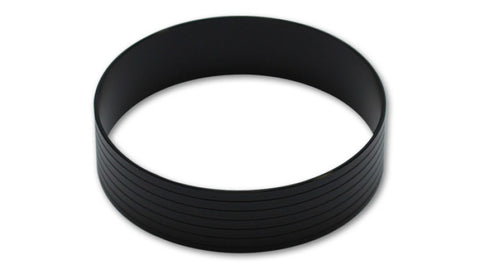 Vibrant Aluminum Union Sleeve for 5in OD Tubing - Hard Anodized Black