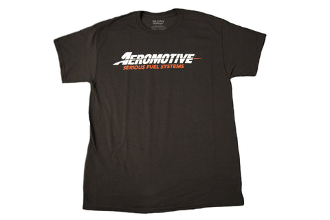 Aeromotive Standard Logo Black/Red T-Shirt - Large