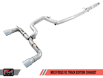 AWE Tuning Ford Focus RS Track Edition Cat-back Exhaust - Chrome Silver Tips