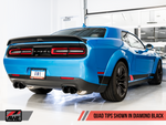 AWE Tuning 2015+ Dodge Challenger 6.4L/6.2L SC Resonated Touring Edition Exhaust - Quad Black Tips