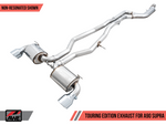 AWE 2020 Toyota Supra A90 Non-Resonated Touring Edition Exhaust - 5in Chrome Silver Tips
