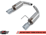 AWE Tuning S550 Mustang EcoBoost Axle-back Exhaust - Touring Edition (Diamond Black Tips)