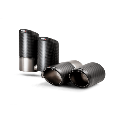 Akrapovic 2018+ Porsche Cayenne V6 (536) Tail Pipe Set (Carbon)
