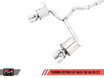 AWE Tuning Subaru STI VA / WRX GV / STI GV Sedan Touring Edition Exhaust - Chrome Silver Tip (102mm)