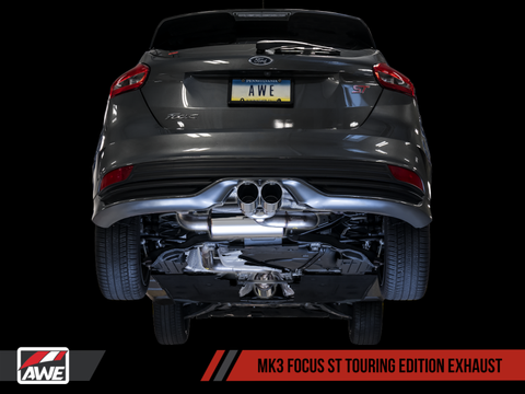 AWE Tuning Ford Focus ST Touring Edition Cat-back Exhaust - Non-Resonated - Chrome Silver Tips