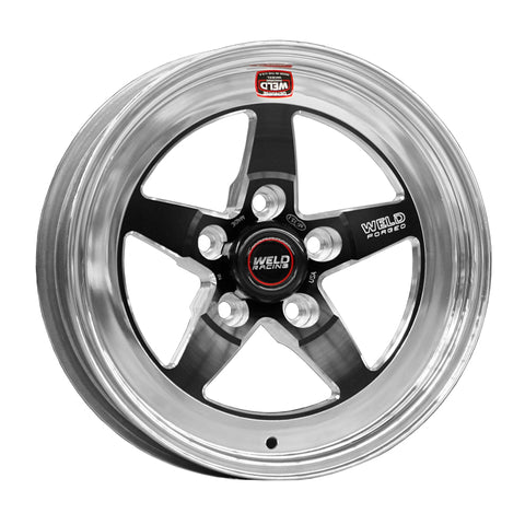 Weld S71 15x15.33 / 5x4.5 BP / 6.5in. BS Black Wheel (Medium Pad) - Non-Beadlock