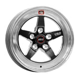 Weld S71 15x11.33 / 5x4.75 BP / 4.5in. BS Black Wheel (Low Pad) - Non-Beadlock