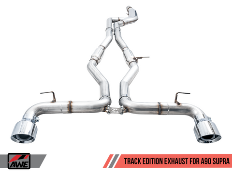 AWE 2020 Toyota Supra A90 Track Edition Exhaust - 5in Chrome Silver Tips
