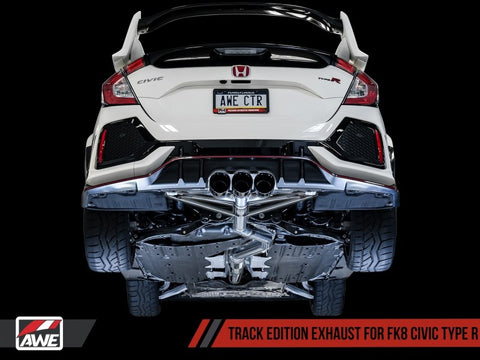 AWE Tuning 2017+ Honda Civic Type R Track Edition Exhaust w/Front Pipe & Triple Diamond Black Tips
