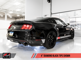AWE Tuning S550 Mustang GT Cat-back Exhaust - Track Edition (Diamond Black Tips)
