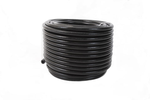 Aeromotive PTFE SS Braided Fuel Hose - Black Jacketed - AN-06 x 8ft