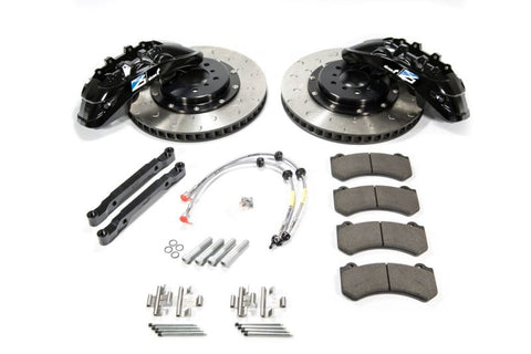 Alcon 2009+ Nissan GT-R R35 412x36mm Rotor Grey 6 Piston Caliper RC6 Front Axle Kit