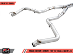 AWE Tuning 2015+ Dodge Challenger 5.7L Touring Edition Exhaust - Non-Resonated - Stock Tips
