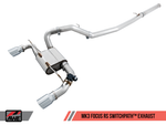 AWE Tuning Ford Focus RS SwitchPath Cat-back Exhaust - Diamond Black Tips