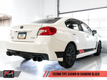 AWE Tuning Subaru WRX/STI VA/GV Sedan Track Edition Exhaust - Diamond Black Tips (102mm)