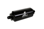 Aeromotive In-Line Filter - (AN-6 Male) 10 Micron Microglass Element Bright Dip Black Finish