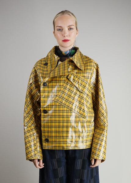 Thinking Checks Jacket Gelb Damen Henrik Vibskov