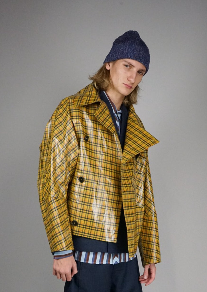 Thinking Checks Jacket Gelb Herren Henrik Vibskov