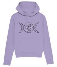 Load image into Gallery viewer, Modern Goddess Hoodie - Cream / Lavender