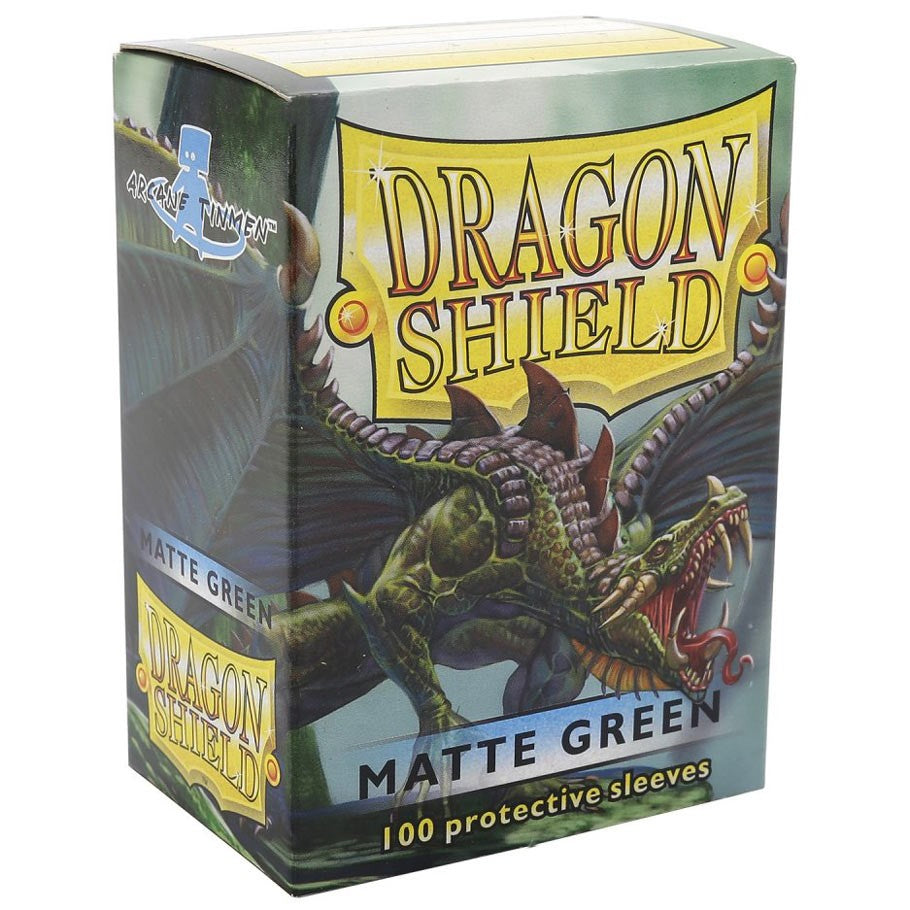 Dragon Shields (100) Green Matt