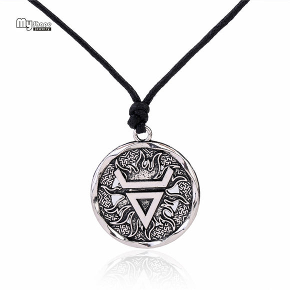 My Shape Veles Symbol Weles Choker Sun of God Talisman Pendant Statement Necklace Men Slavic Amulet Religion Viking Necklaces