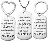 Stainless Steel Sister Necklaces Pendants Sister Pendant I love my Sister Pendant side by side Necklace Jewelry Gift