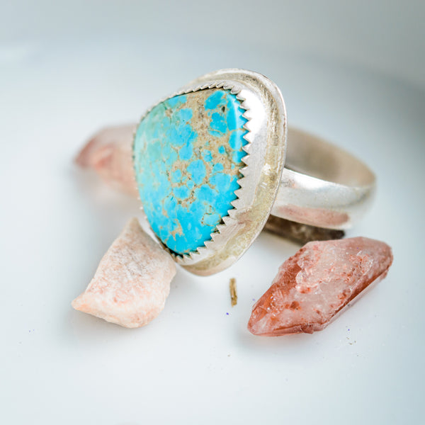 Fox Turquoise ring - size 6.5