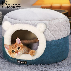 Hoopet Cat Basket Warm Cave Kennel bed house