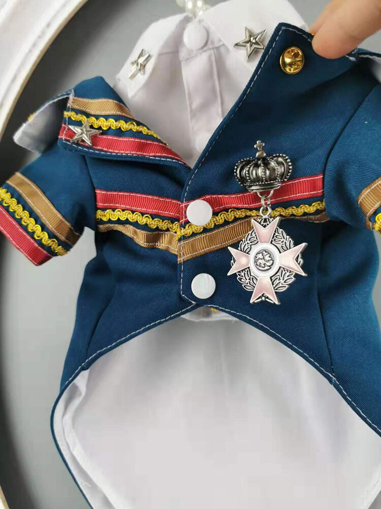 Handsome Officer Two Piece Suit With Shirt Badge Dog Dress