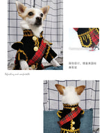 Load image into Gallery viewer, Scottish Plaid Kilt Royal Style Velvet Uniform Pet Tuxedo Suit Dog cat clothes