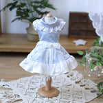 Load image into Gallery viewer, Light Blue Ballerina satin Party dress