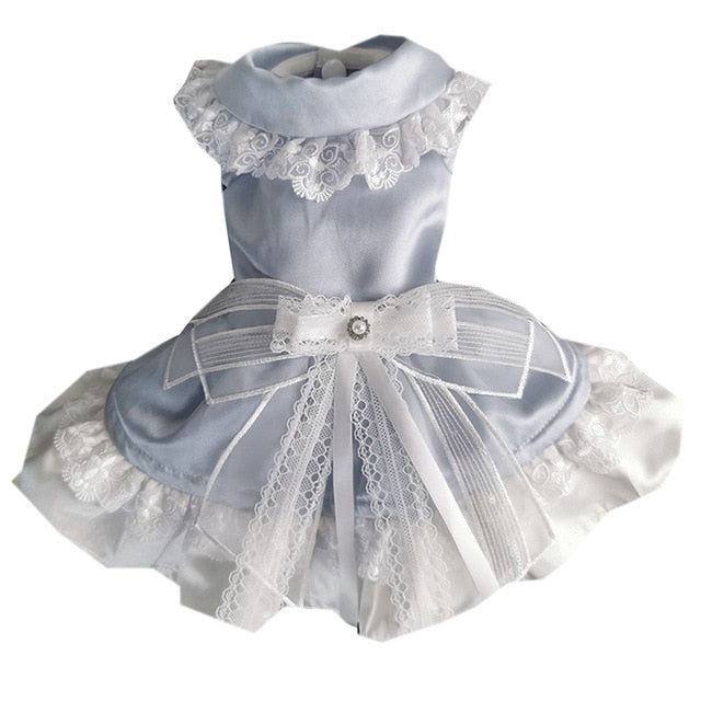 Light Blue Ballerina satin Party dress