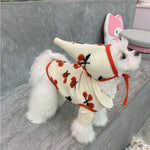 Load image into Gallery viewer, New winter pet dog clothes wool cherry hat vest blanket clothing