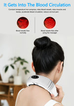 Load image into Gallery viewer, Electric Neck Massager &  Infrared Heating Pain Relief  Relaxation Machine