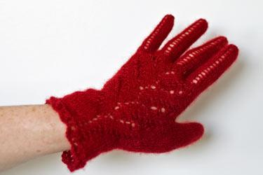 Red Fern Evening Gloves Pattern