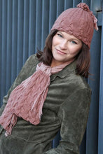 Load image into Gallery viewer, Tassels and Cables Scarf and Hat Pattern