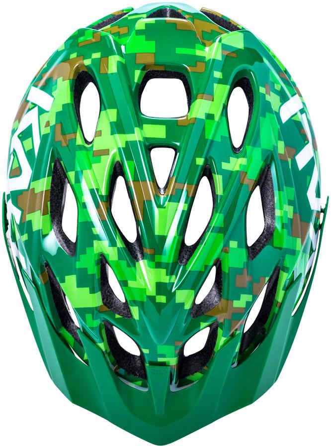 CHAKRA YOUTH HELMET - PIXEL GLOSS GREEN