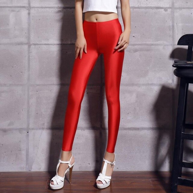 Legging Satin Rouge