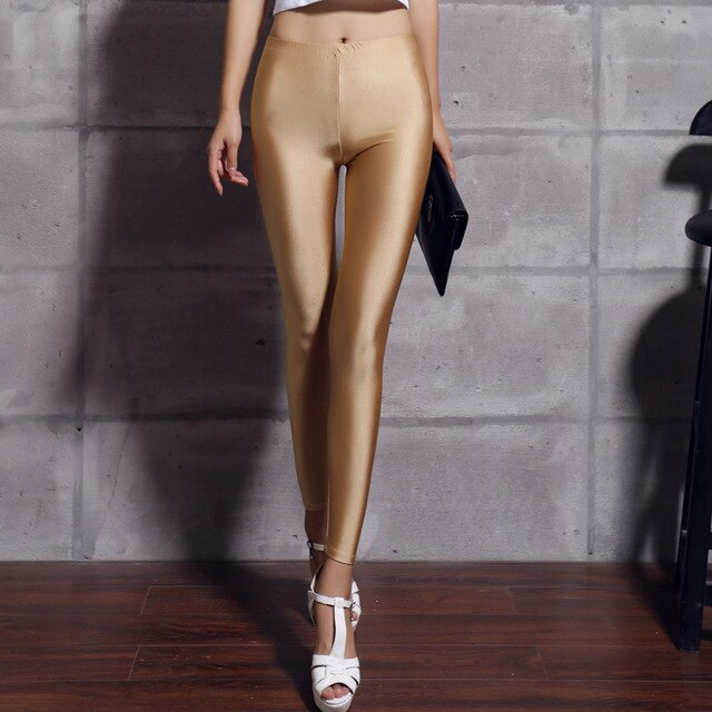 Legging Satiné Beige
