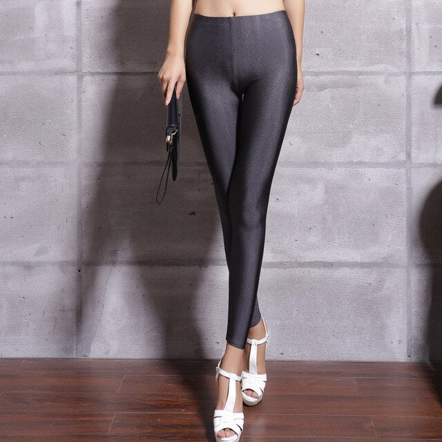 Legging Satiné Noir