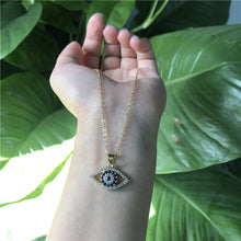 "Load image into Gallery viewer, <img src=""necklace.png"" alt=""evil eye necklace 24k gold plated aaa zircon stone"">"