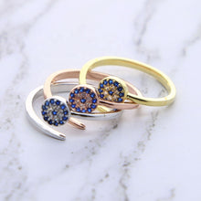 "Load image into Gallery viewer, <img src=""ring.png"" alt=""evil eye ring 5a cubic zirconia jewelry silver gold rose gold cz 18k gold"">"