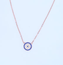 "Load image into Gallery viewer, <img src=""necklace.png"" alt=""evil eye necklace jewelry 925 sterling silver gold rose gold cz 18k gold"">"
