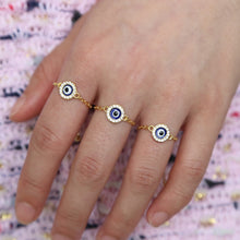 "Load image into Gallery viewer, <img src=""ring.png"" alt=""evil eye adjustable ring 18k gold plated cubic zirconia"">"