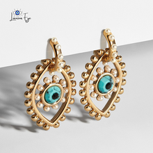 "Load image into Gallery viewer, <img src=""earrings.png"" alt=""evil eye jewelry evil eye earring 14k gold plated"">"