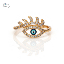 "Load image into Gallery viewer, <img src=""ring.png"" alt=""evil eye ring jewelry gold plated cubic zirconia cz nickel free lead free"">"