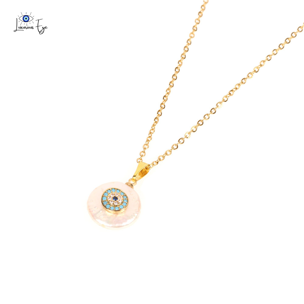 "<img src=""necklace.png"" alt=""evil eye necklace freshwater pearl cubic zirconia stainless steel gold plated"">"