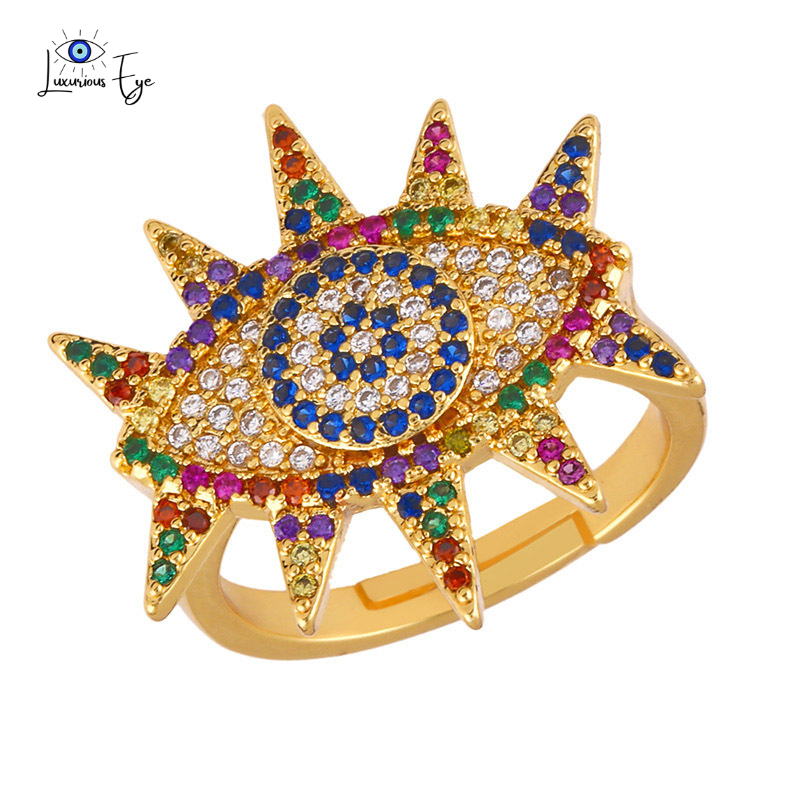 "<img src=""ring.png"" alt=""evil eye ring 18k gold plated cubic zirconia colourful zircon stone adjustable size"">"